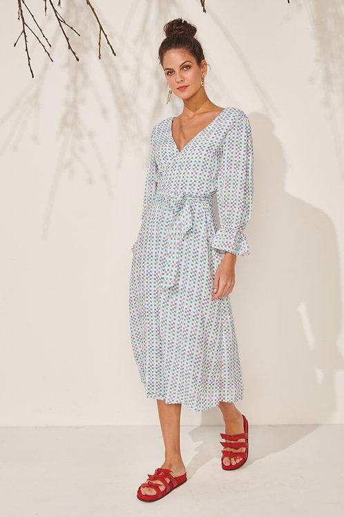 Tunica Ladrilhos 3 em 1 - vestido, túnica e cropped