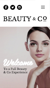 Hair & Beauty website templates – Beauty Salon