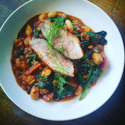 A Classic, Pan fried duck breast,spinach