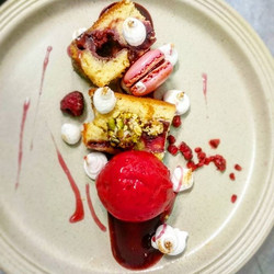 Raspberry&White Chocolate Dessert, all elements homemade at The River Kitchen ..