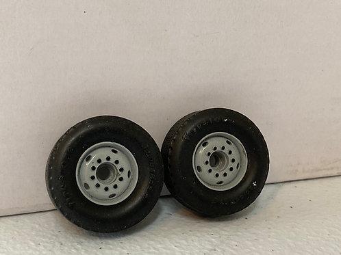 1/34 Mack grey front wheels (pair)