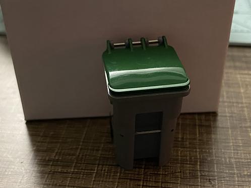 1/34 Trash Bin Grey/Green