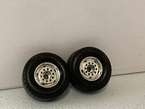 1/34 Mack Front wheels (pair) chrome