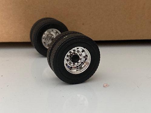1/34 Chrome rear wheels