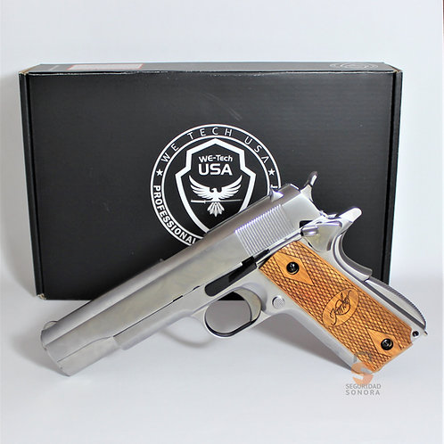 WE-Tech Colt 1911 Super 45 Cachas Madera