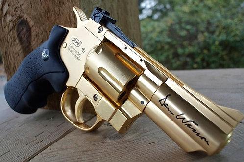Revolver Dan Wesson Chapado en Oro