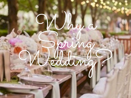 Spring Weddings - Pro's and Con's