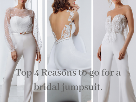 Top 4 reasons to go for a bridal jumpsuit.