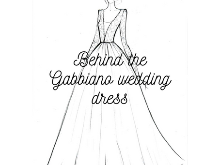 Behind the Gabbiano Wedding Dress