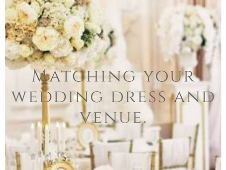 Matching your wedding dress with the venue!
