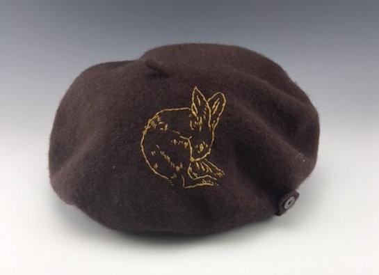 Yellow Bunny beret
