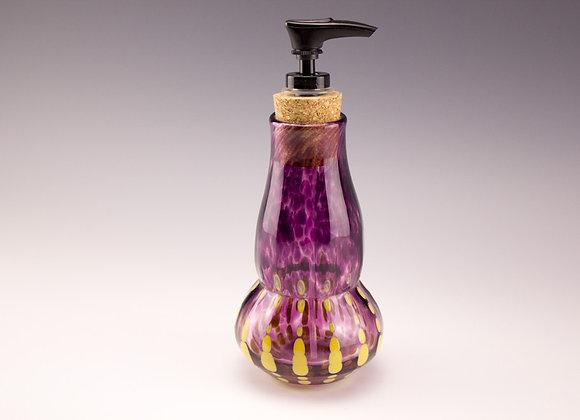 Soap dispenser purple w/yellow