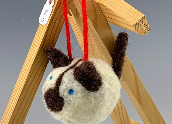 Cat Felt Ornament