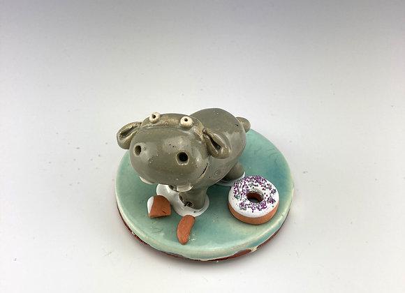 Tiny Hippo (White Donut)