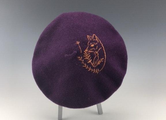 Fox in Orange beret