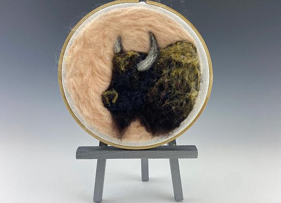 Needle felted Buffalo