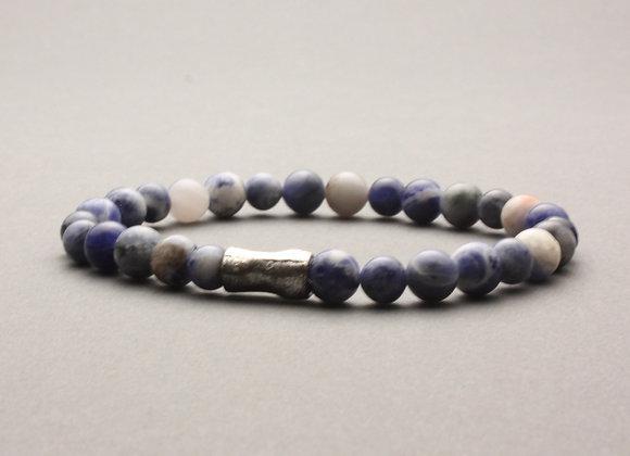 Semi-precious, stretch bracelet