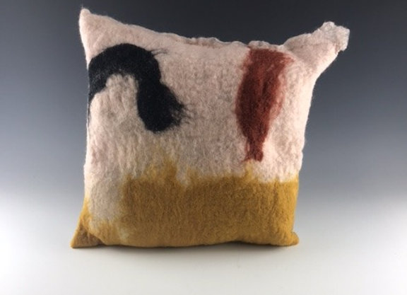 Abstract felted Pillow #2