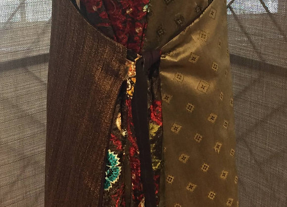 Dress, Brown and gold