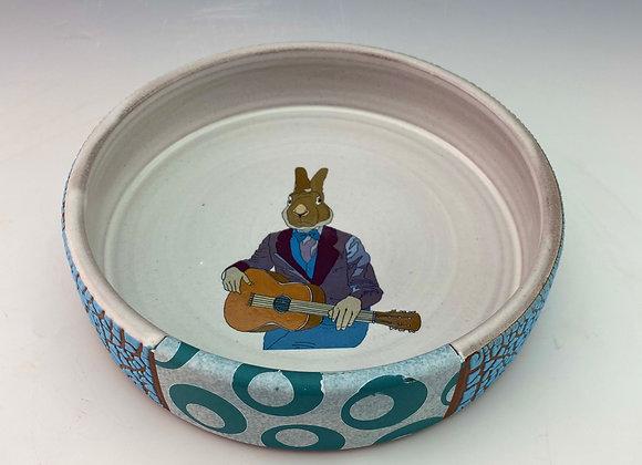 Guitar Rabbit Baking Dish
