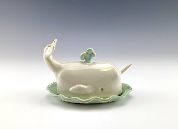Narwhal butter dish