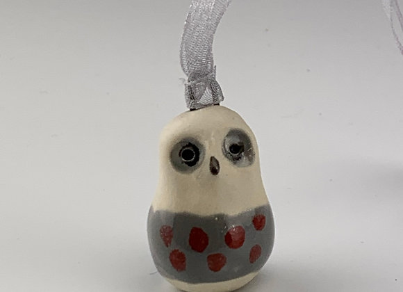 Owl ceramic ornament