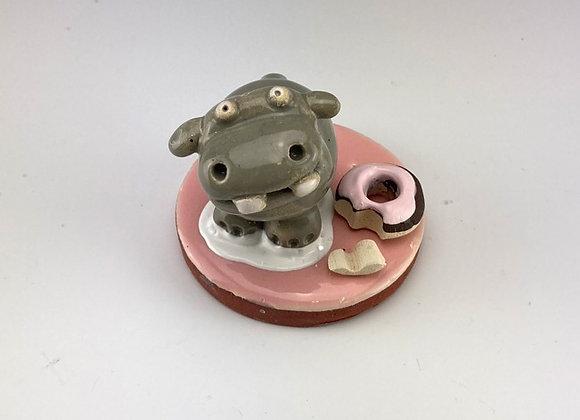 Tiny Hippo (Pink Donut)