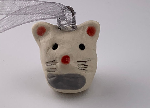 Mouse ceramic ornament