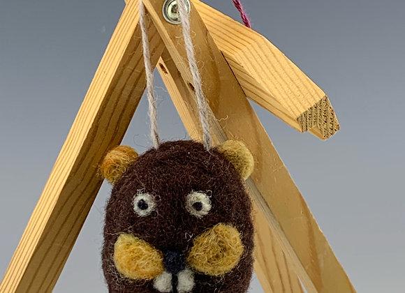 Beaver Felt Ornament