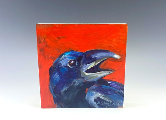 Simple Pleasures Painting, Something to Crow About