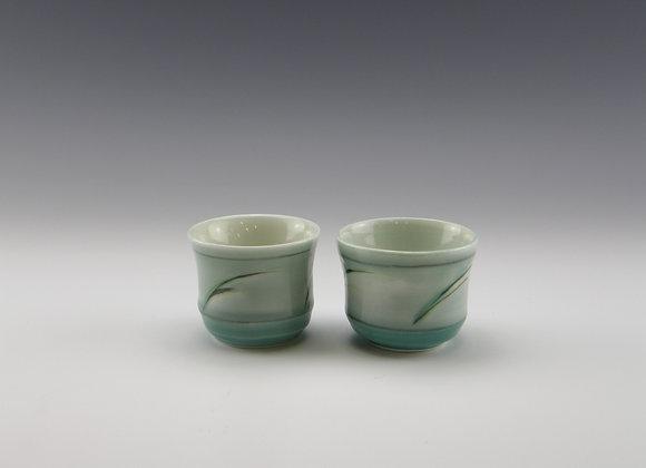 2 porcelain sake cups