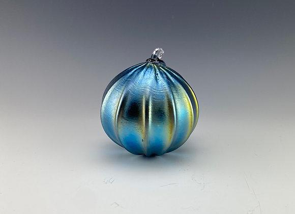 Blue iridescent ball