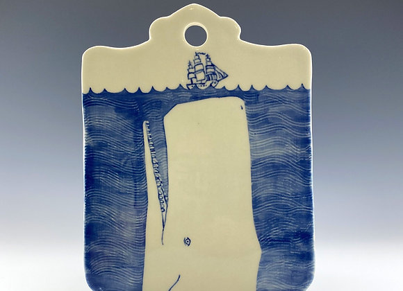 Whale cutting board
