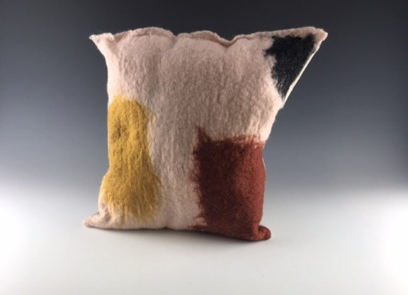 Abstract felted Pillow #1