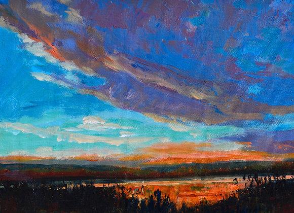 Prairie Pond, Painted on location