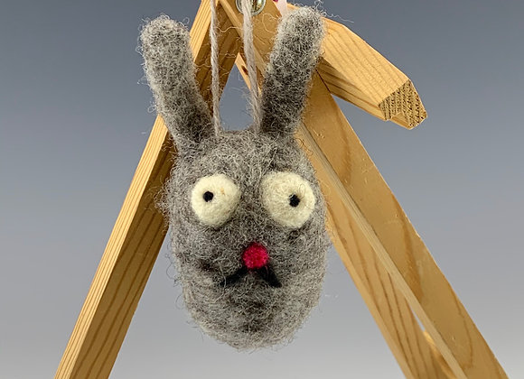 Rabbit Felt Ornament