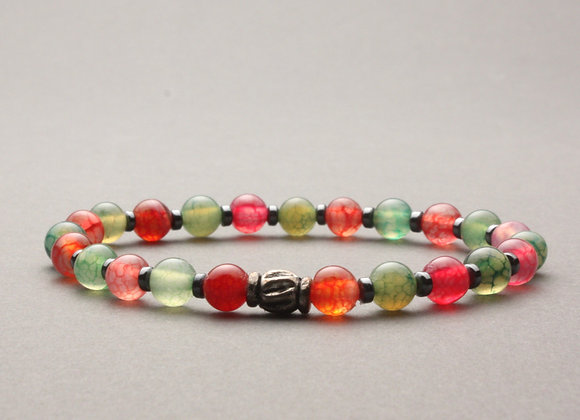 Semi-precious, stretch bracelet