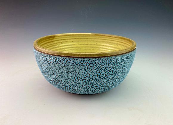 Blue and Yellow Ramen Bowl
