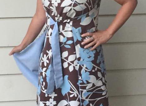 Dress, Blue and floral