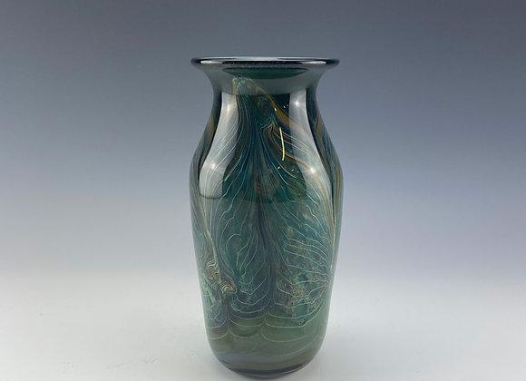 """Emerald Whoosh"" vase"