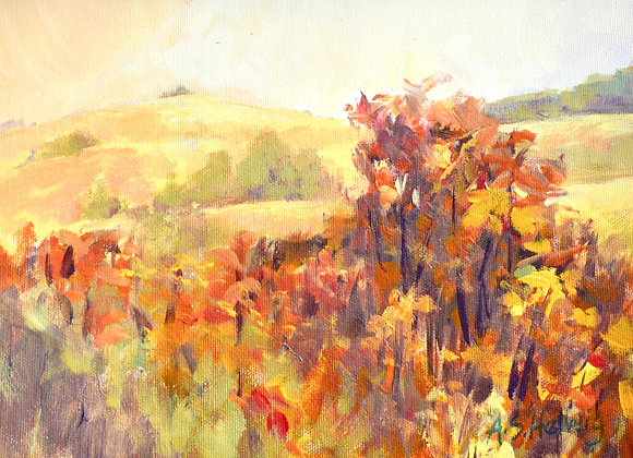 Smoky Days, painted on Nosehill Park