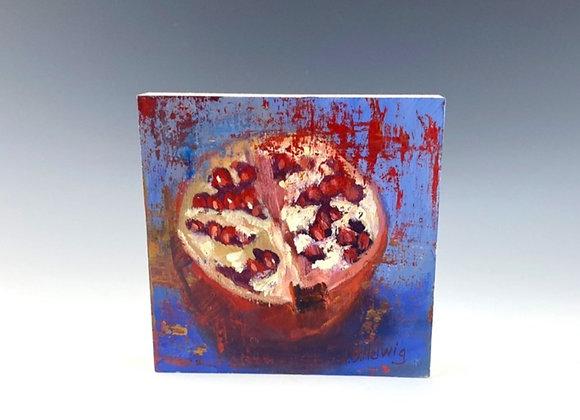 Simple Pleasures Painting, Pomegranate