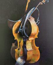 Colère de violoncelle et corps de chasse