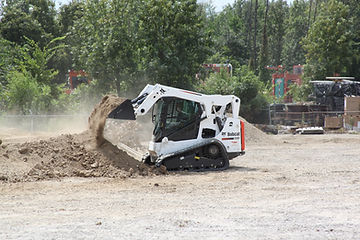 Bobcat dumping