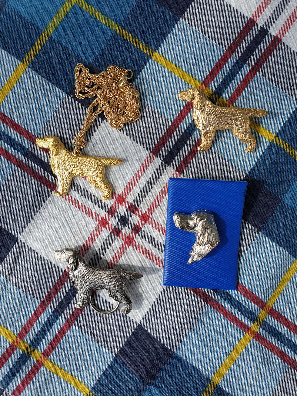 Head pin (silver) £5.00   Model (silver) £17.00   Ring clip (gold) £15.00