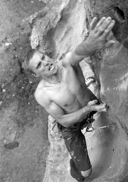 Dave Lucas on the first ascent of Birthday Blood F7b+. - Peru