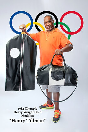 Leather Garment Bag/Mixmedia Overnight Bag