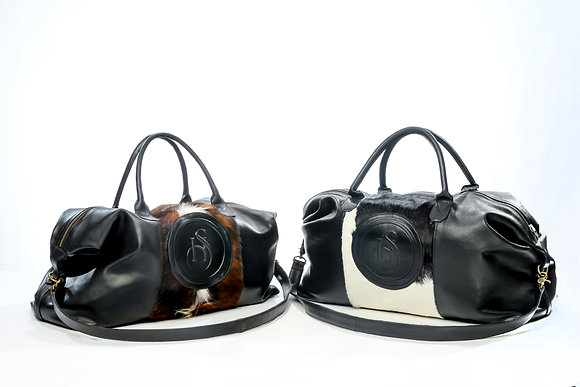 Cowhide/Leather Overnight Bag