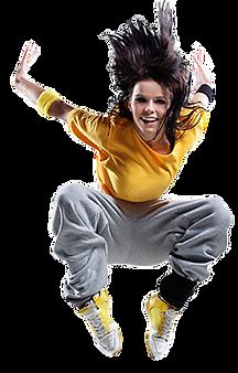 אישה קופצת