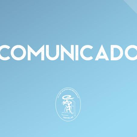 Comunicado- Suspensão dos Treinos de Futsal